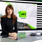 Xenia Fedorova, chefredaktør og direktør for den nye TV-kanal RT France. Her fotograferet i et af stationens spritnye studier. Foto: Gonzalo Fuentes/Reuters