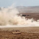 Irakiske styrker ses her 30 kilometer syd for Mosul 18. oktober 2016.