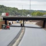 Silkeborgmotorvejen er stadig under konstruktion. Arkivfoto