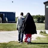 ARKIVFOTO fra asylcenter i Sandholmlejren.