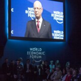 Tyske Klaus Schwab, stifter and præsident for the World Economic Forum (WEF) ved det 47 årsmøde.
