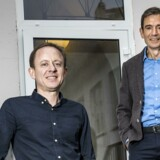 Templafy lever af at sælge skabeloner, som virksomheder kan bruge overalt. Tidl. TDC-direktør og investor Jesper Theill Eriksen (tv.) er trådt ind som administrerende direktør, og Preben Damgaard er blevet bestyrelsesformand. Arkivfoto: Thomas Lekfeldt