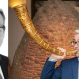 Rane Willerslev (t.v.), ny direktør for Nationalmuseet, er hovedperson i DR2s serie »Ranes Museum« Foto: DR presse