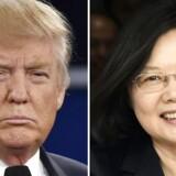 """PLUS-historie. Donald Trump taler i telefon med Taiwans præsident. Det har ingen kommende præsident gjort, siden USA anerkendte """"et Kina"""". Men hvorfor ikke, spørger Trump."""