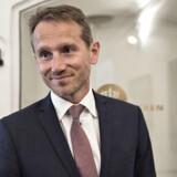 Efter et tumultarisk forløb præsenterer finansminister Kristian Jensen (V) den pensionsaftale, som VLAK-regeringen netop har indgået med Dansk Folkeparti.