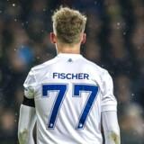 Viktor Fischer (77), FC København, under Europa League-kampen i Parken imellem FC København og Atletico Madrid torsdag den 15. februar 2018.