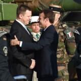 Arkivfoto: Frankrigs præsident Emmanuel Macron og Estlands statsminister, Juri Ratas.