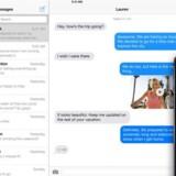 iMessage er Apples interne beskedsystem, hvormed man kan sende beskeder på tværs af Apple-udstyr uden at bruge normal SMS. Men der er problemer, når man skifter til konkurrerende telefoner. Foto: Apple