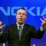 Nokias topchef, Stephen Elop, jublede, da Apple blev tvunget til at betale milliarderstatning. Arkivfoto: Luke MacGregor, Reuters/Scanpix