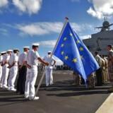 Der trækkes op til kamp mod forslaget om et EU-direktiv for aktionærrettigheder i rederibranchen. Heldigvis er det uden krigsskibe i søen, som her på billedet.