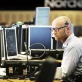 Aktiehandlere hos Nordea - banken forventer højt afkast den kommende tid.