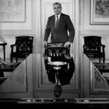 Det var den karismatiske svindler og bestyrelsesformand i Nordisk Fjer, Johannes Petersen, der drev virksomheden og sig selv ud over afgrundens rand. Han får dog ikke hovedrollen i teaterstykket, som kommer til at handle om, hvor vigtigt det er at sige fra. Foto: Lars Skaaning/Polfoto
