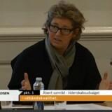 Videnskabsminister Charlotte Sahl-Madsen (K) var torsdag i samråd om bredbåndshastigheden i Danmark. Foto: TV fra Folketinget, www.ft.dk