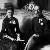 Christian den IX - her sammen med sin hustru Louise - forhandlede med tyskerne om, at Danmark kunne blive en tysk delstat for at redde Slesvig og Holsten efter nederlaget i 1864-krigen.