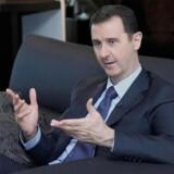 Den syriske præsident al-Assad under et interview i Damaskus med en russisk avis 26. august.