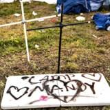 Lejren hvor en 20-årig kvinde, der døde natten til lørdag, boede på festivalen.