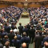 Det britiske parlament torsdag eftermiddag.