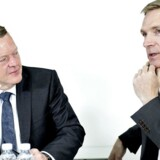 Lars Løkke Rasmussen (tv.) kan karakteriseres som håndværkeren og Kristian Thulesen Dahl som stormesteren, når det kommer til deres forhandlingsstil.