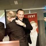 Glæden var stor - også hos NNIT slv - da selskabet fredag gik på børsen.