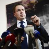 Forhenværende udviklingsminister Christian Friis Bach bekræfter sin afgang som minister på et pressemøde torsdag d.21.november 2013 i Eigtveds Pakhus. (Foto: Keld Navntoft/Scanpix 2013)