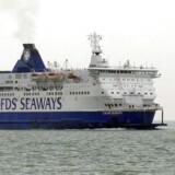 DFDS håber på normale arbejdsvilkår i Calais efter måneders kampe mod franske sømænd. Arkivfoto.
