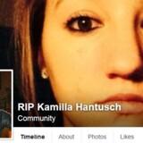 """Screendump fra Facebook-gruppen """"RIP Kamilla Hantusch""""."""
