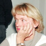 1994: Pia Kjærsgaard efter mødet, hvor hun har opgivet sit ordførerskab.