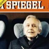 Forsiden af det tyske magasin Der Spiegel hvor Cornelius Gurlitt for første gang fortæller om alle malerierne i sin lejlighed.