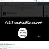 Et af de såkaldte hashtag - markeret med dette #, som er blevet brugt meget på Twitter er #ISISmediaBlackout. The Register meddeler, at det hashtag onsdag var blevet anvendt mere end 7.000 gange ifølge tal fra analysefirmaet Topsy.