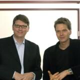 Niklas Zennström og Janus Friis.
