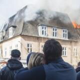Brand ved Eksperimentarium i Hellerup mandag.