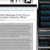 Sonys nyudnævnte sikkerhedsdirektør beretter på sin blog om det nye angreb på spillenettene.