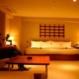 Værelset her er indrettet i den såkaldte Tatami-style og er blandt andet karakteristisk med sine lave borde og senge.