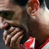Diego Godin kom galt afsted for ti dage siden i en kamp mod Valencia. Nu er forsvareren kampklar og rejser med til København, hvor FCK venter i Europa League. Scanpix/Gabriel Bouys