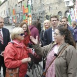 I juni måned 2012 lykkedes det endelig for Pia Kjærsgaard (DF) at besøge Christiania sammen med Folketingets Retsudvalg. Foto: Keld Navntoft