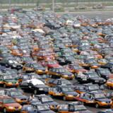 Der skal mange taxier til en lufthavn med knapt 56 millioner årlige passagerer. Beijing Capital International Airport er nummer otte på listen over verdens mest travle lufthavne.