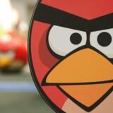 Det finske selskab Rovio skabte de efterhånden ikoniske vrede fugle med spillet Angry Birds. Nu udgiver Rovio et dansk udviklede spil. AFP PHOTO/Peter PARKS
