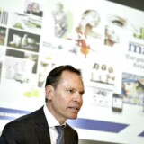 Matas offentliggør i dag regnskab for andet kvartal af det skæve regnskabsår 2014/2015. Her er det administrerende direktør i Matas, Terje List (th), og Matas' finansdirektør Anders Skole Sørensen i forbindelse med Matas' børsnotering i 2013.