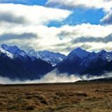 De Sydlige Alper på New Zealands største ø, Sydøen.