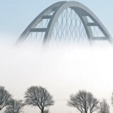 Arkivfoto af den aldrende Fehmarnsundbro.