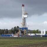 Pprøveboringer efter skifergas, som det franske energiselskab Total foretager ved Dybvad i Nordjylland.