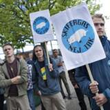 Byrådet i Frederikshavn skulle onsdag aften beslutte om de ville give tilladelse til prøveboring efter skifergas i kommunen. Før byrådsmødets start var der demonstration mod skifergas.