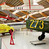 På flymuseet kan man opleve både danske og udenlandske civile og militære fly fra tiden 1911-1990.