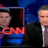 Den fyrede CNN-vært blev ofte gjort til grin på Jon Stewarts tv-show. Screendump: Cnn.com