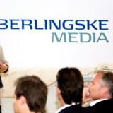 Berlingskes koncernchef, Lisbeth Knudsen, blev onsdag aften hædret for sin indsats for de nye medier. Foto: Rune Evensen, Scanpix