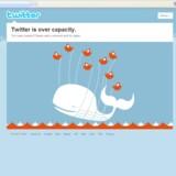 Forbindelsen brast, da Twitter blev overbelastet.
