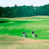 Man skulle spejde langt efter andre golfspillere på kurstedet Scharmützelsees golfbaner.