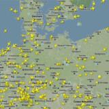 Se flyene over Europa lige nu på www.flightradar24.com/