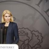 »Vi holder øje med jer,« lød budskabet fra statsminister Helle Thorning-Schmidt (S) til de ekstremistiske miljøer i Danmark, da hun på et pressemøde onsdag tog skarp afstand fra terrorangrebet i Paris. (Foto: Erik Refner/Scanpix 2015)