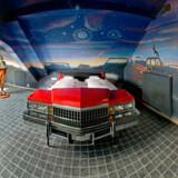 V8 Hotellet, som er et luksuriøst firstjernet hotel beliggende midt i det eksklusive bil museum, Böblingen's Meilenwerk.